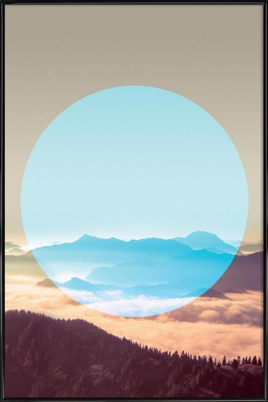 Alps Circular affiche encadrée