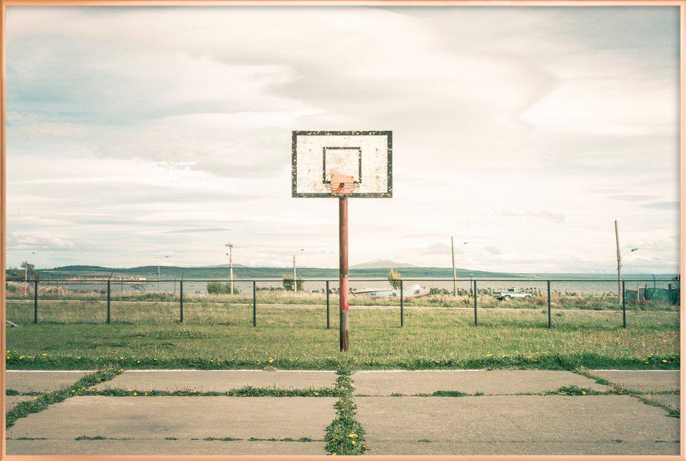 Puerto Natales, Chile -Poster im Alurahmen