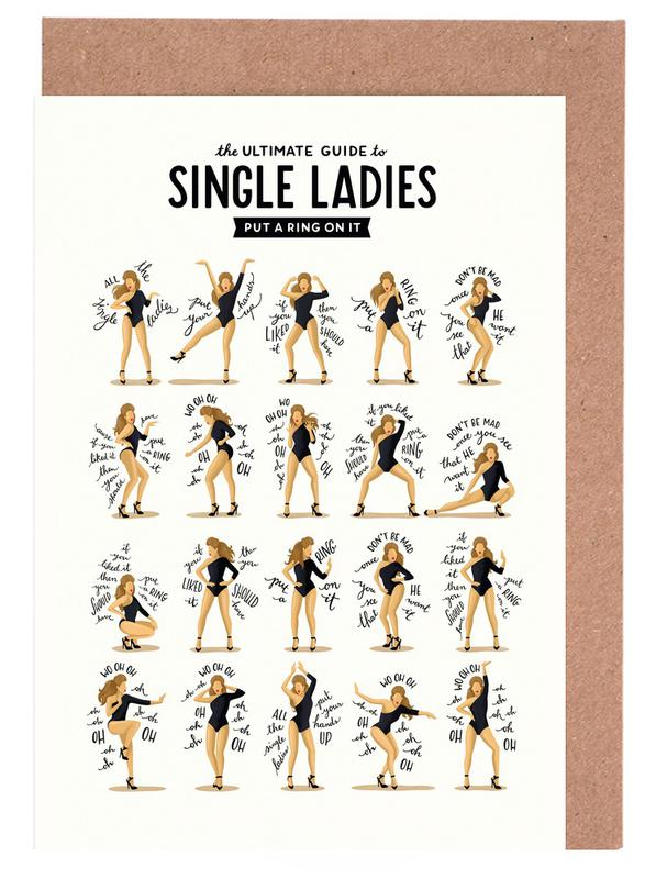 Single Ladies - Draw Me A Song Project -Grußkarten-Set