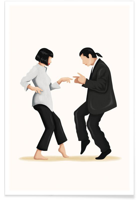 Pulp Fiction Dance Plakat