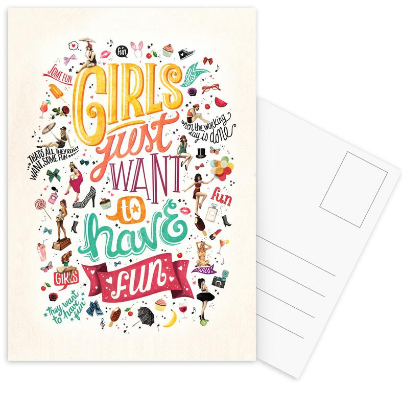 Girls Just Want to Have Fun - Draw Me A Song Project Postcard Set