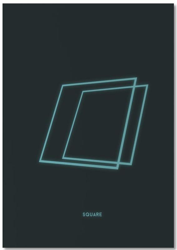Neon Square Notepad
