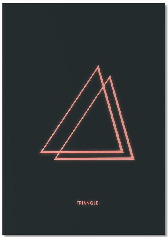 Neon Triangle Notepad