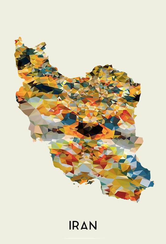 Iran -Acrylglasbild