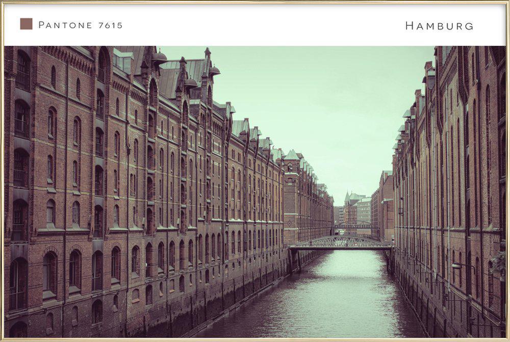 Hamburg 7615 poster in aluminium lijst