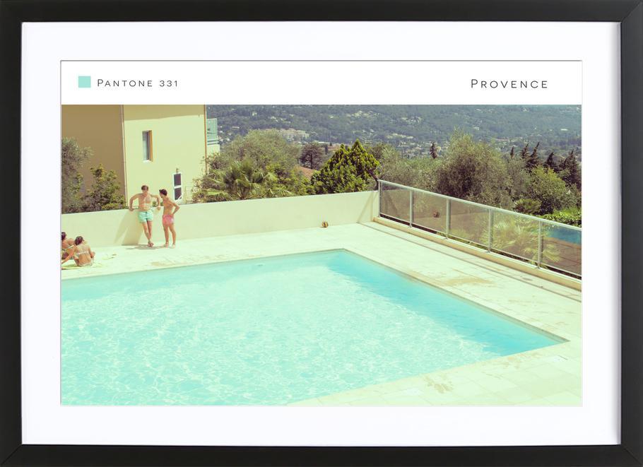 Provence 331 affiche sous cadre en bois