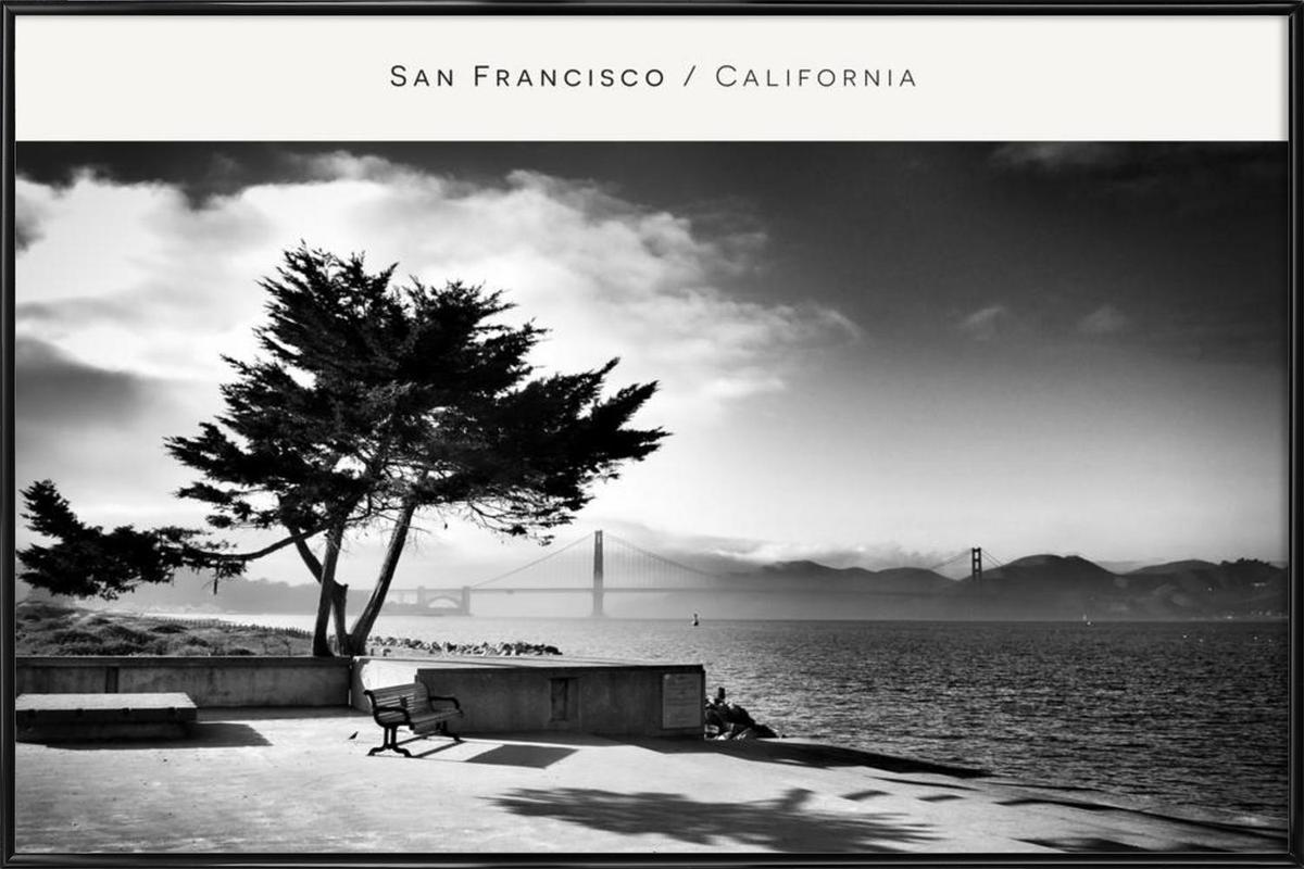San Fransisco B&W Framed Poster