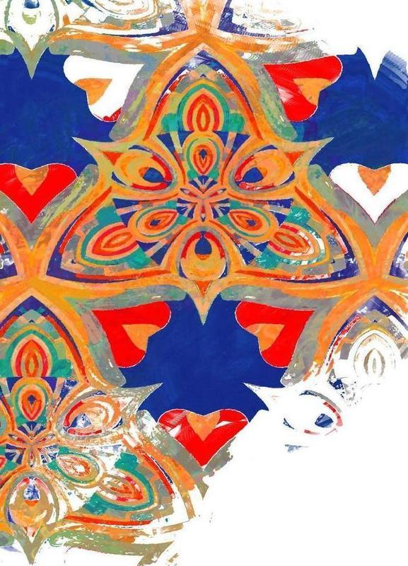 Abstract Sketch 3 -Leinwandbild
