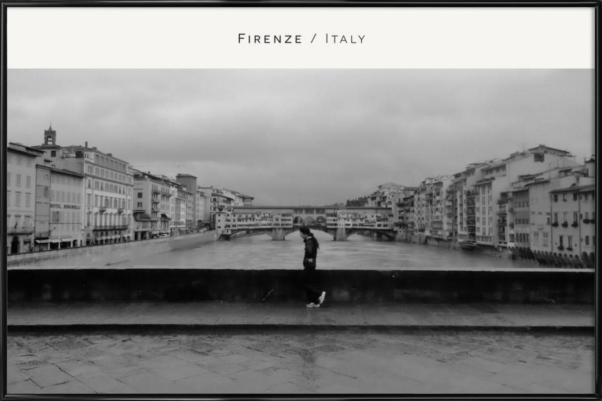 Firenze B&W Framed Poster