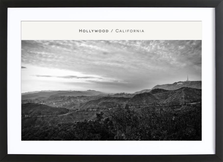 Hollywood B&W Framed Print