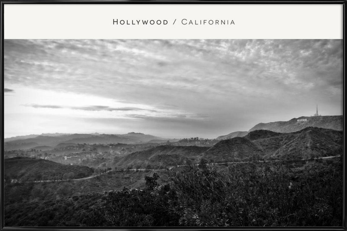 Hollywood B&W Framed Poster