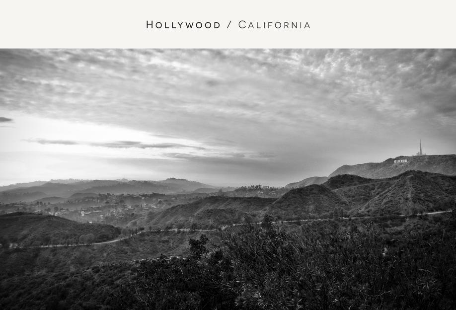 Hollywood B&W Aluminium Print