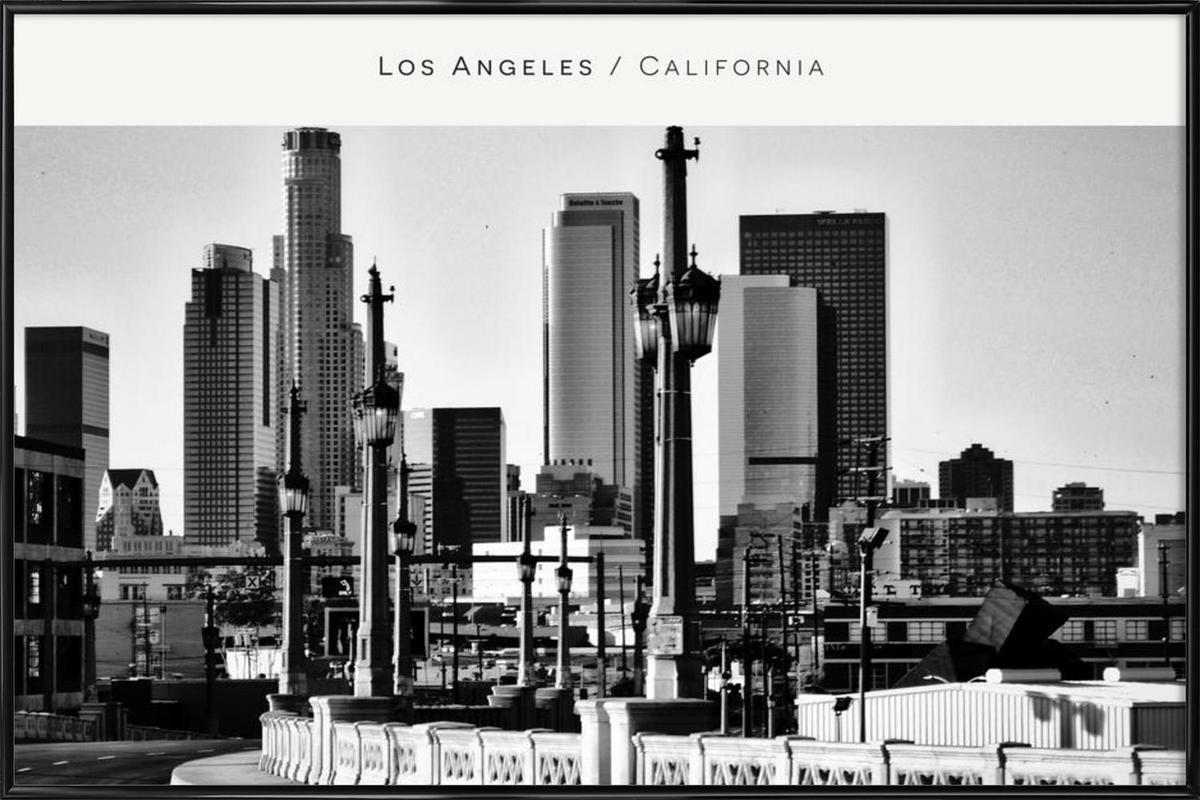 Los Angeles B&W Framed Poster
