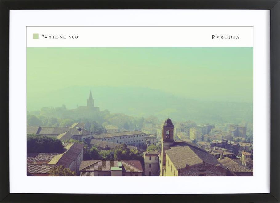 Perugia Pantone 580 Framed Print
