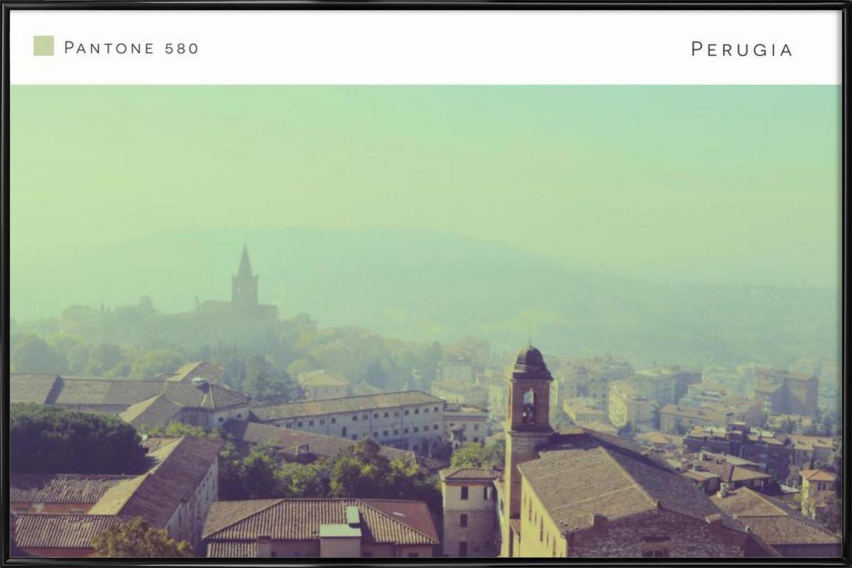 Perugia Pantone 580 Framed Poster