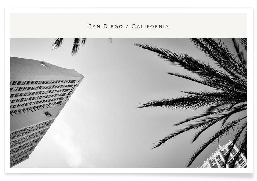 San Diego B&W -Poster