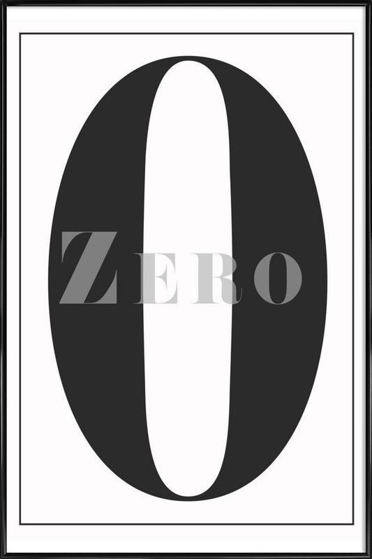 Numero 0 -Bild mit Kunststoffrahmen