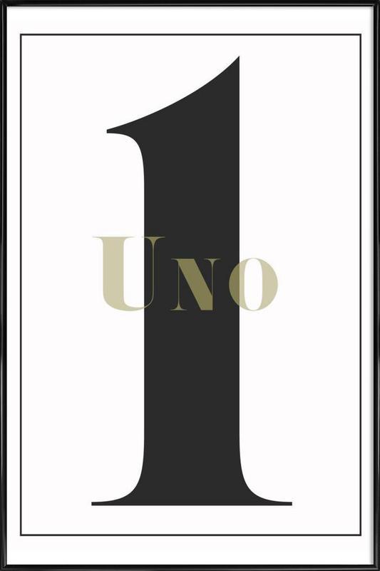 Numero 1 Framed Poster