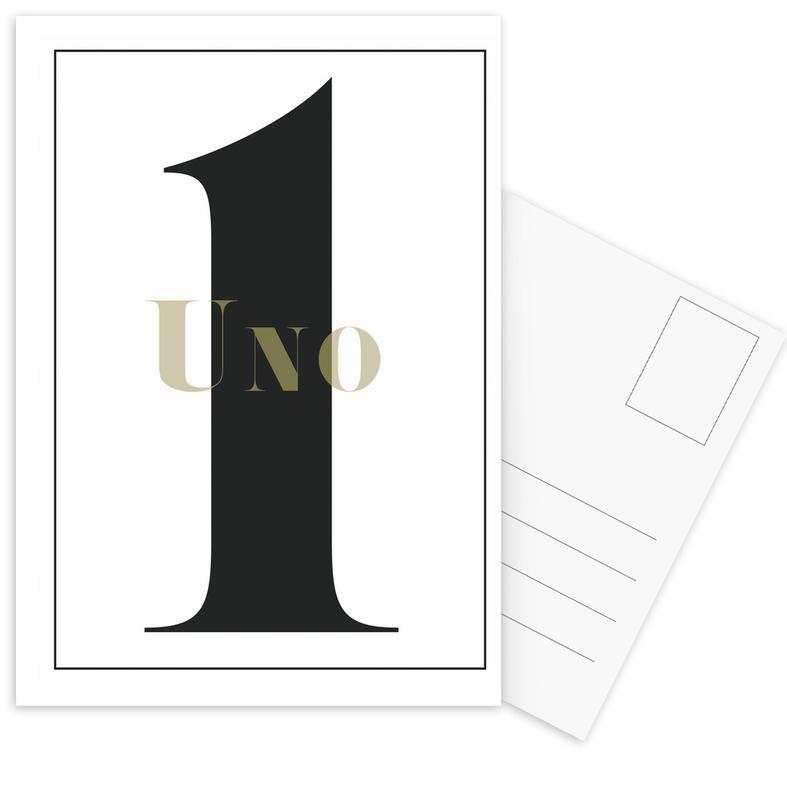 Numero 1 Postcard Set