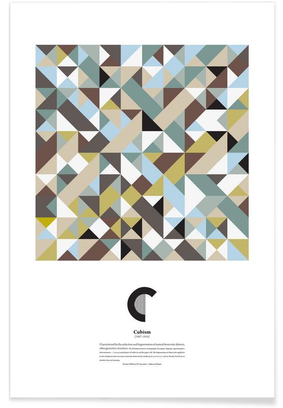 C - Cubism Poster