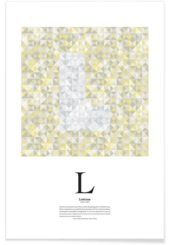 L - Lettrism Poster