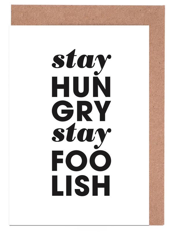 Stay Hungry Stay Foolish Steve Jobs -Grußkarten-Set