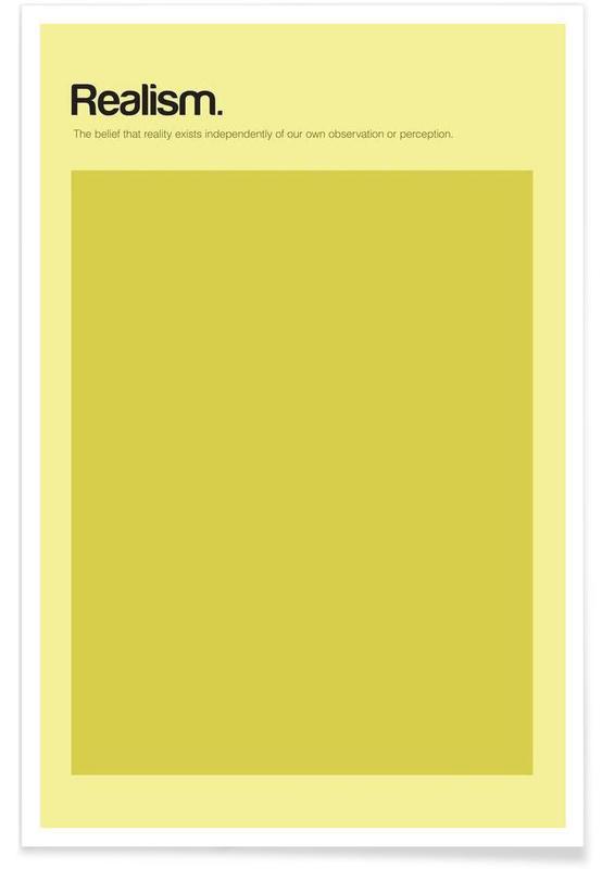 Realisme - minimalistische definitie poster