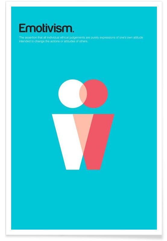 Emotivisme - minimalistische definitie poster