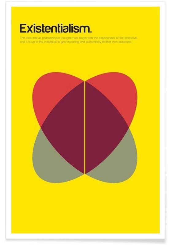 Existenzialismus-Minimalistische Definition -Poster