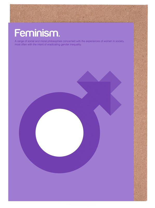 Feminism Greeting Card Set
