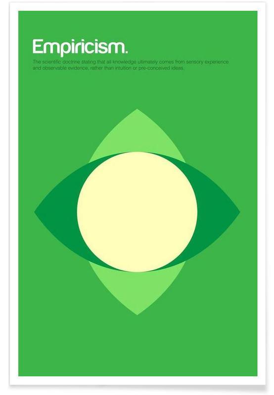 Empirisme - Definition minimaliste affiche