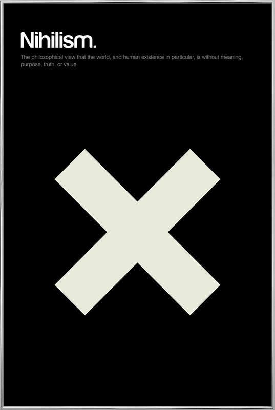 Nihilism -Poster im Alurahmen