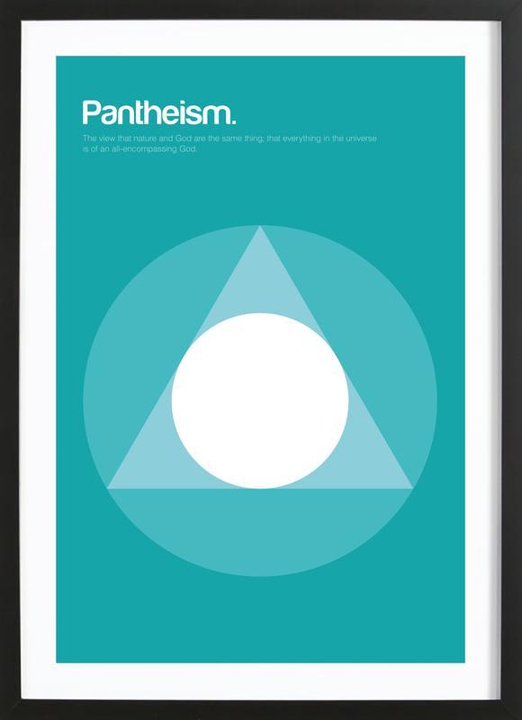 Pantheism affiche sous cadre en bois