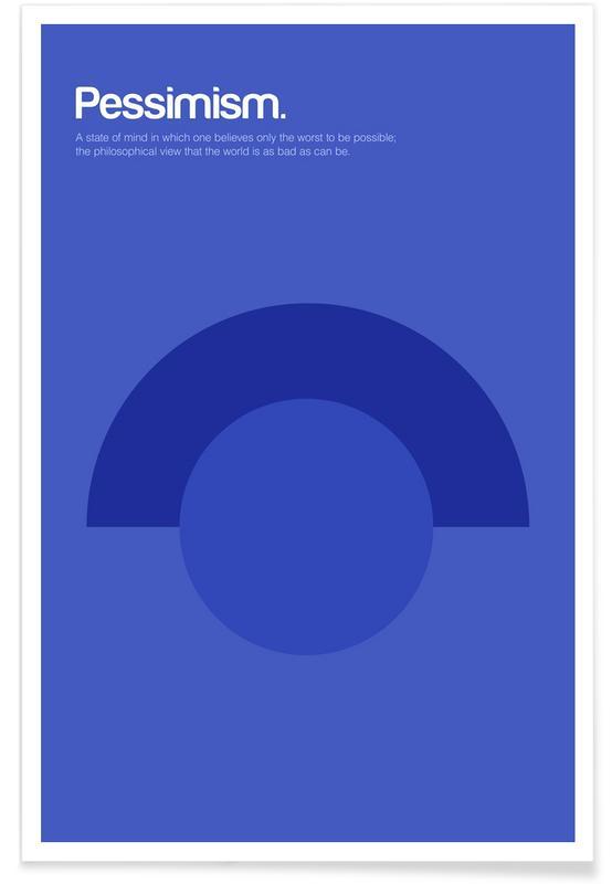 Pessimism - Minimalistic Definition Poster