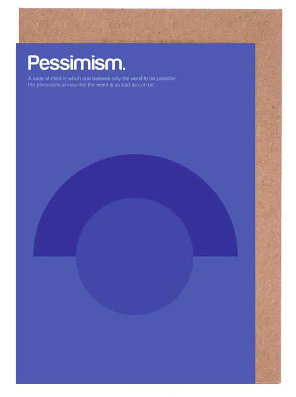 Pessimism Greeting Card Set