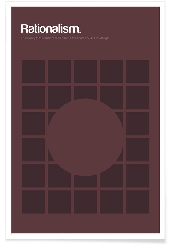 Rationalism - Minimalistic Definition Poster