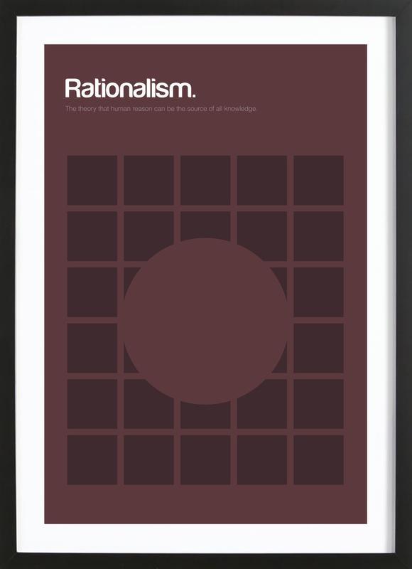 Rationalism affiche sous cadre en bois