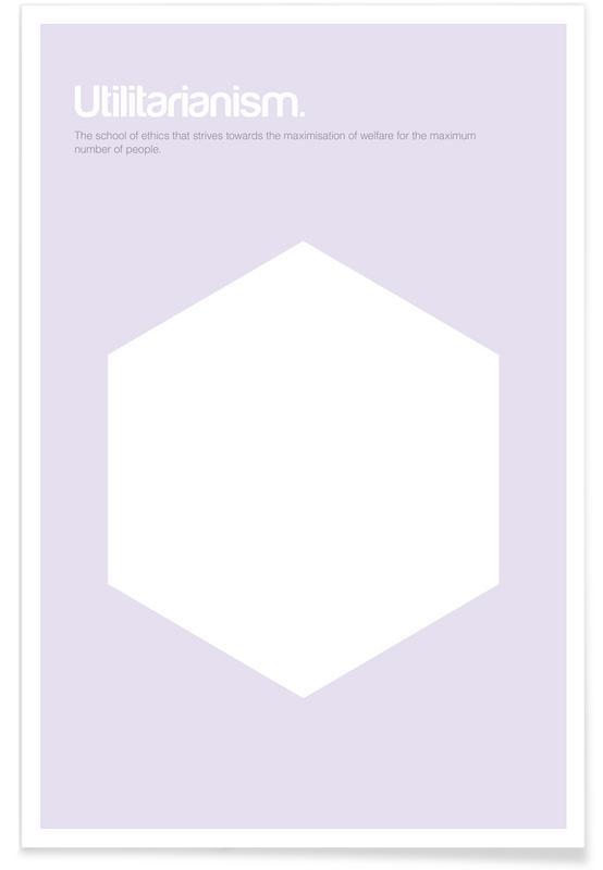 Utilitarismus-Minimalistische Definition -Poster