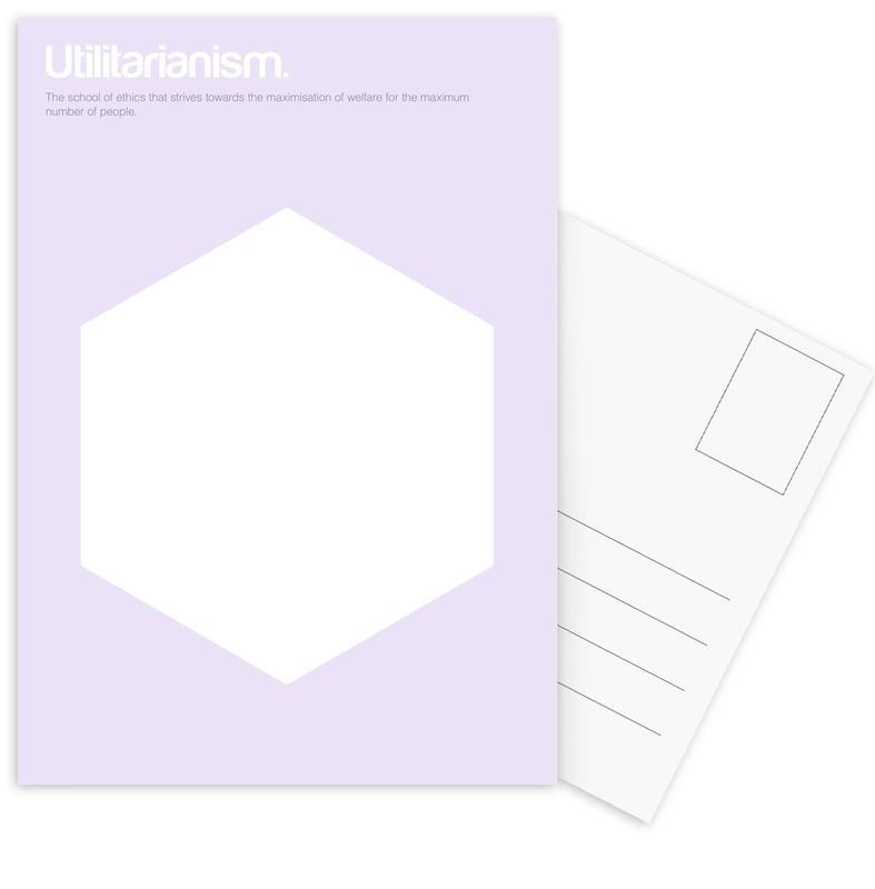 Utilitarianism Postcard Set