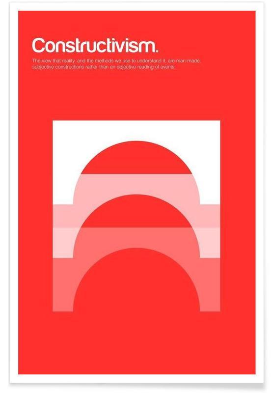 Constructivism - Minimalistic Definition Poster