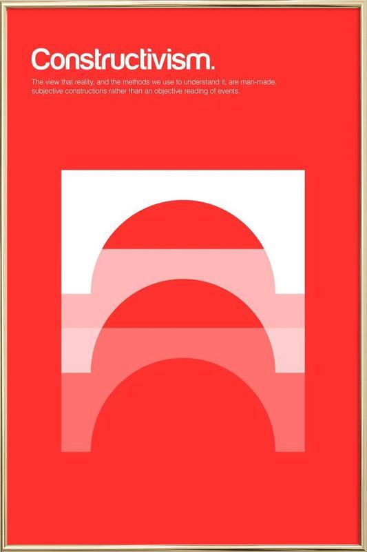 Constructivism affiche sous cadre en aluminium