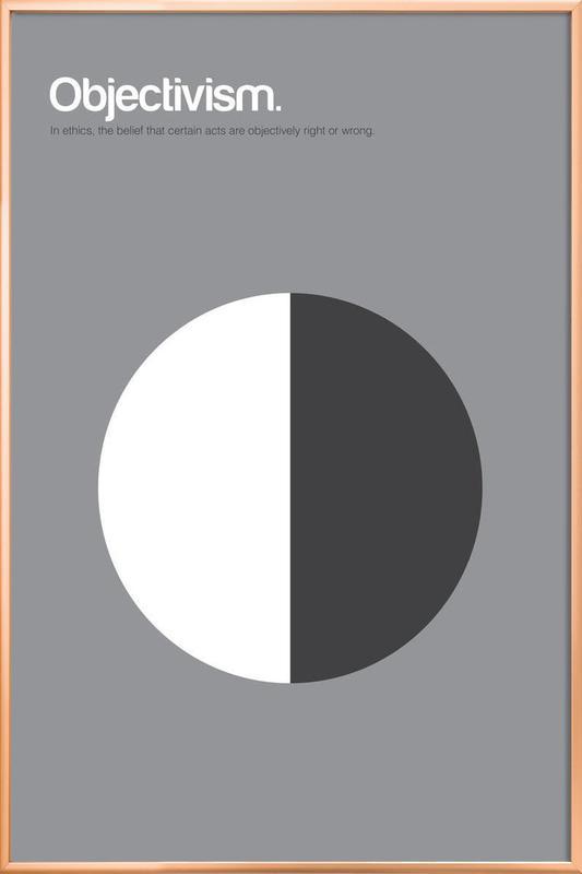 Objectivism Poster in Aluminium Frame