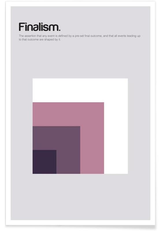 Finalisme - minimalistische definitie poster