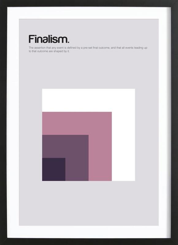 Finalism affiche sous cadre en bois