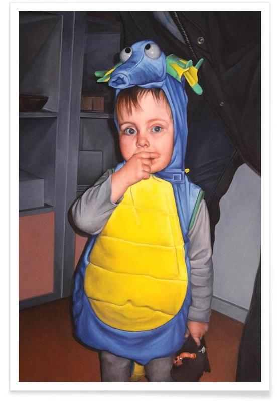 Halloween Dino Poster