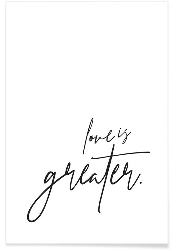 Love is Greater affiche