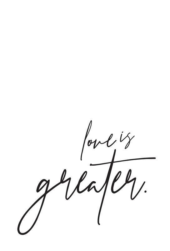 Love is Greater acrylglas print