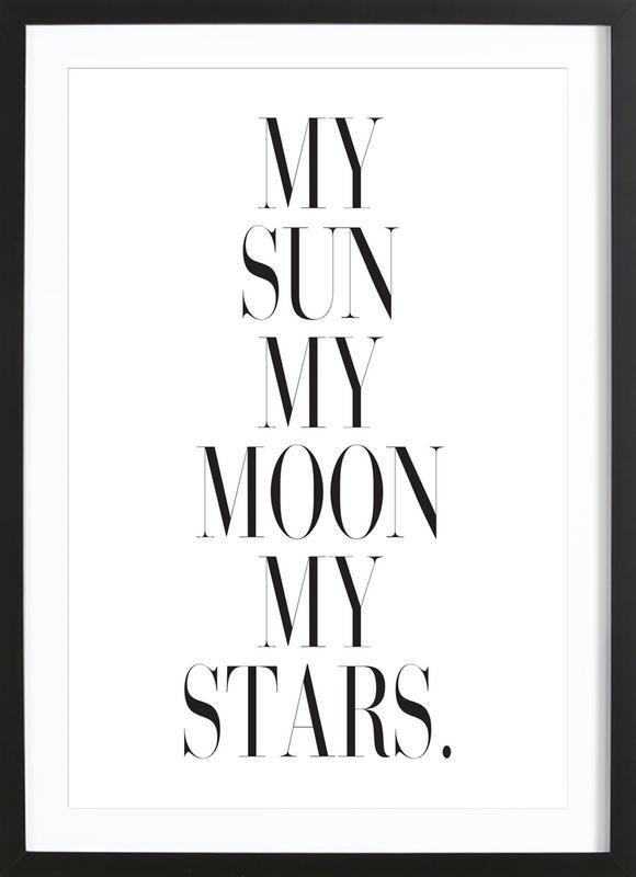 My Sun My Moon affiche sous cadre en bois