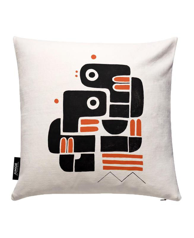 Two Lovers, One Bench Cushion Cover