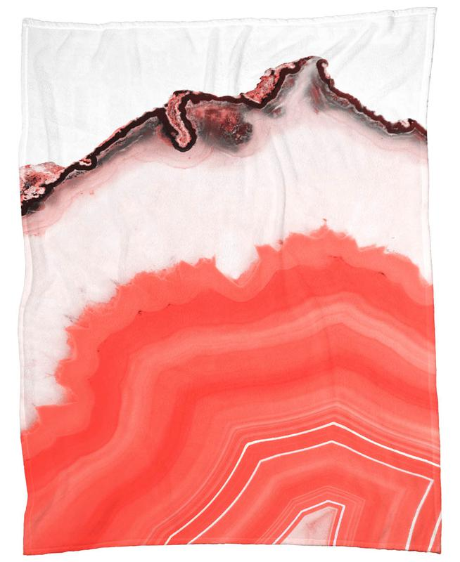 Living Coral Agate Fleece Blanket